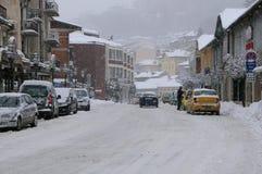 Schneefälle in Veliko Tarnovo Lizenzfreie Stockfotos