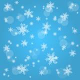 Schneefall. Abstrakter Winterhintergrund. Stockfotografie