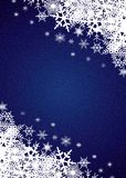 Schneefall-Hintergrund Stockfoto