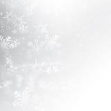 Schneefall mit grauem Hintergrundvektor bokeh Zusammenfassung lizenzfreie abbildung