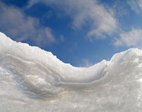 Schneefenster Stockfotografie