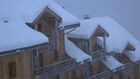 schneefälle stock footage