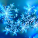 Schneeflocke-abstrakte Hintergrund-Schablone Stockfotografie