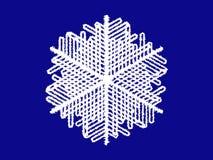 Schneeflocke auf blauem Hintergrund Stockfotos