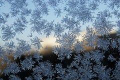 Schneeflocke auf dem Glas Lizenzfreies Stockfoto