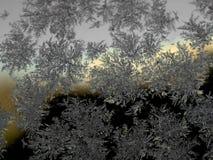Schneeflocke auf dem Glas Stockfotos