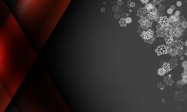 Schneeflocke auf dunkelgrauem Farbeweihnachtsfeld-Zusammenfassungshintergrund Stockbilder