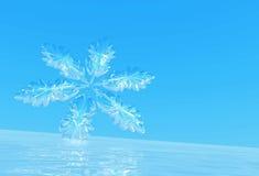 Schneeflocke auf Eis Lizenzfreie Stockfotos