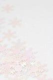 Schneeflocke Confetti Lizenzfreies Stockfoto