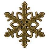 Schneeflocke, dekoratives Element, lokalisiert auf weißem Hintergrund Stockbilder