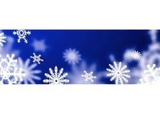 Schneeflocke des blauen Bandes Lizenzfreies Stockfoto