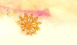 Schneeflocke des neuen Jahres oder des Weihnachten Lizenzfreie Stockfotos