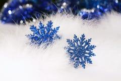 Schneeflocke des neuen Jahres oder des Weihnachten Stockfotografie