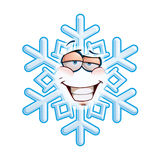 Schneeflocke Emoticon - eingebildet lizenzfreie abbildung