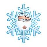 Schneeflocke Emoticon - knutschen Sie Stockfotografie