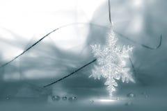 Schneeflocke-Feiertags-Hintergrund Stockfotos
