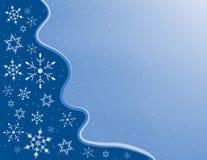 Schneeflocke-Feld Stockfoto