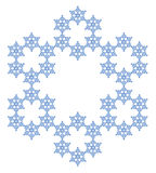 schneeflocke Flocke des Schnees stock abbildung