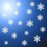 Schneeflocke-Hintergrund Lizenzfreies Stockfoto
