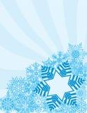 Schneeflocke-Hintergrund Lizenzfreie Stockbilder