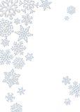 Schneeflocke-Hintergrund Stock Abbildung