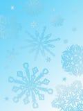 Schneeflocke Hintergrundaqua Stockfoto