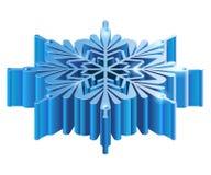 Schneeflocke Iisometric 3D Stockfotografie