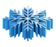 Schneeflocke Iisometric 3D Stockbild