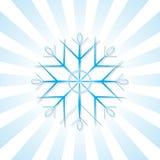 Schneeflocke mit blauen Streifen Stockfoto