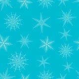 Schneeflocke-nahtloses Muster Lizenzfreies Stockfoto