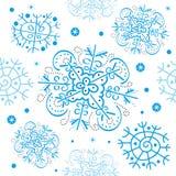 Schneeflocke-nahtloses Muster des Vektors Stockfoto