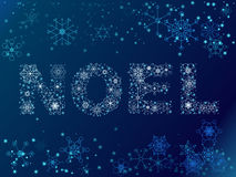 Schneeflocke Noel Abbildung Stockfoto