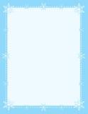 Schneeflocke-Rand lizenzfreie abbildung