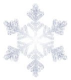 Schneeflocke und -quadrate Lizenzfreie Stockfotografie