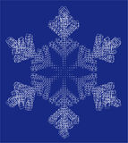 Schneeflocke und -quadrate Stockfotografie