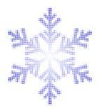 Schneeflocke und -sterne Lizenzfreies Stockfoto