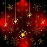 Schneeflocke und Sterne Lizenzfreie Stockfotos