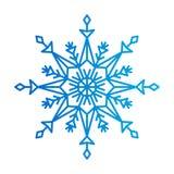 Schneeflocke von blauen Farben, Vektor-Illustration Stockbilder