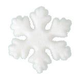 Schneeflocke weich als Schnee lokalisiert auf weißem Hintergrund stockfotos