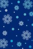 Schneeflocke-Weihnachtshintergrund Stockbild