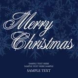 Schneeflocke-Weihnachtskarte Stockfotografie