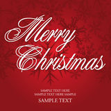 Schneeflocke-Weihnachtskarte Stockbild