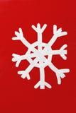 Schneeflocke-Weihnachtspostkarte-Ölgemälde lizenzfreie abbildung