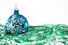 Schneeflocke-Weihnachtsverzierungen Stockbild