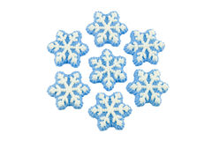 Schneeflockedekorationen Alpha Lizenzfreies Stockbild