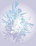 Schneeflockehintergrund stockfoto