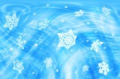 Schneeflockehintergrund Stockbilder