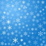 Schneeflockehintergrund Stockbild