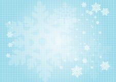 Schneeflockehintergrund Stockfotos