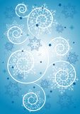 Schneeflockehintergrund, Abbildung Lizenzfreie Stockfotos